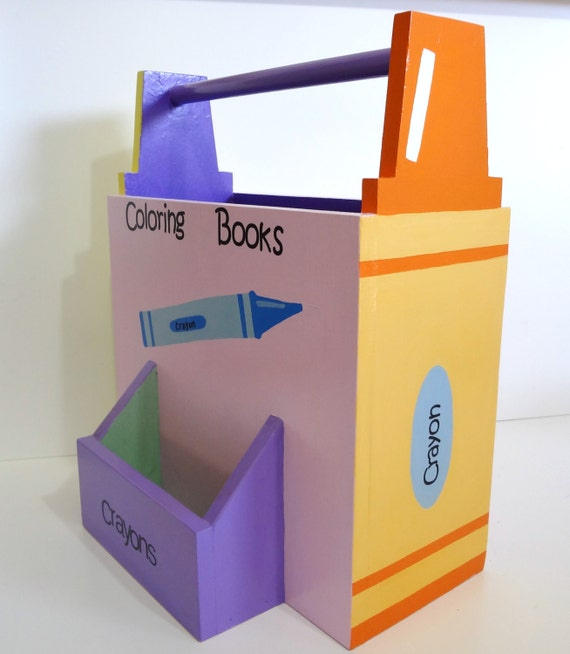 Coloring Book And Crayon Caddy Holder Birthday Gift By