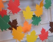 Paper Garland Fall Decor 6ft Fall Leaf Garland Harvest Party Decor Fall Wedding Decor Thanksgiving Photo Prop Classroom Teachers Decor