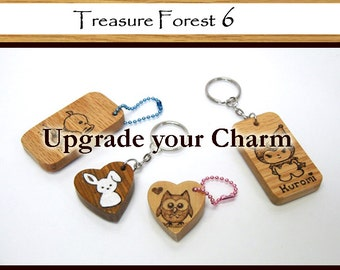 Upgrade your Kawaii Wood Charm to a Keychain