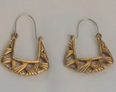 Gold Vintage Geometric Costume Drop Earrings - FREE SHIPPING