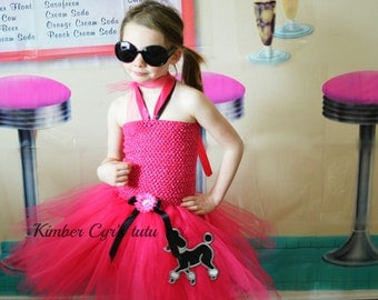 50's Poodle Tutu Dress--choose colors--Up to ANY size you want