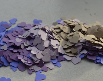 Adorable Heart Confetti in Purple/Beige over 1000 hearts