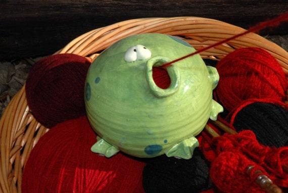 Frog Shaped Ceramic Yarn Bell IN STOCK