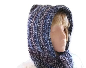 Crochet PATTERN/Tutorial for Hooded Scarf /Hood & Scarf All In One,. PDF file. Download,  Tutorial with Pictures.