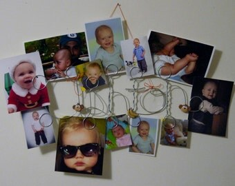 Custom Personalized Baby Name Banner for 1st Birthday Party, 0 to 12 months, 12 or 13 Holders, One Year Old Month to Month Hanging Pictures