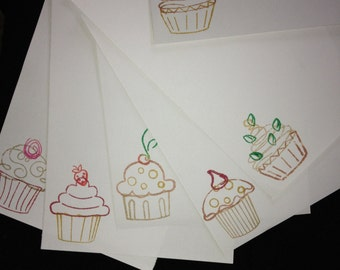 Chocolate Cupcakes letter/writing set ( 0 calories)