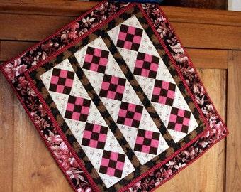 SALE! REDUCED! Pink Nine Patch Petite Quilt