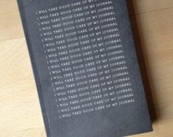 Take good care chalkboard journals