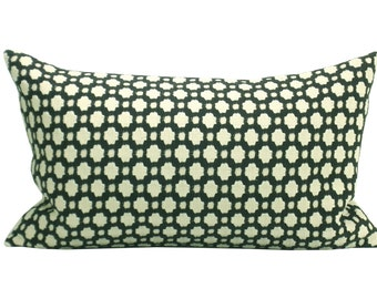 Betwixt lumbar pillow cover in Charcoal/Ecru