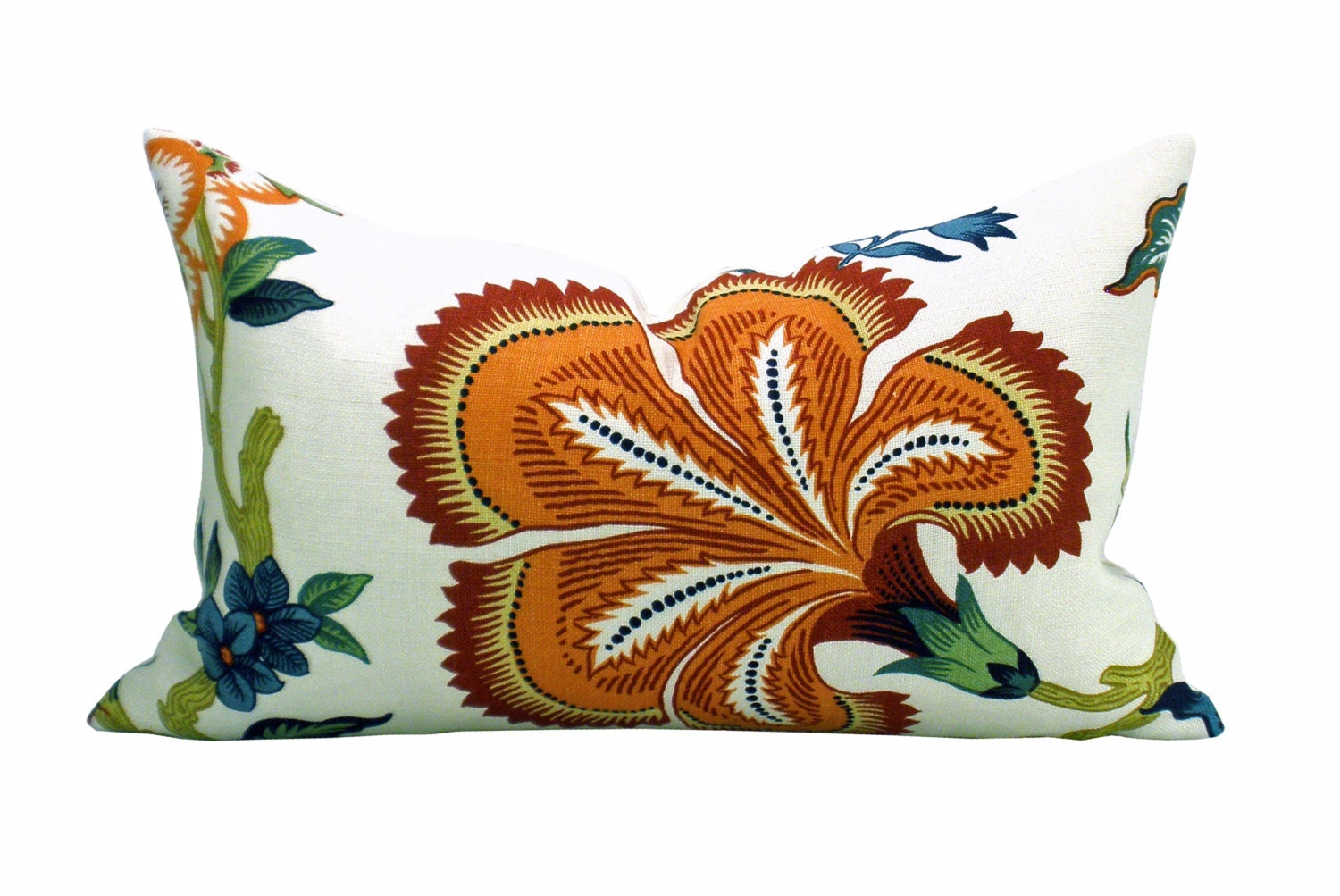 Hothouse Flowers lumbar pillow cover in Spark