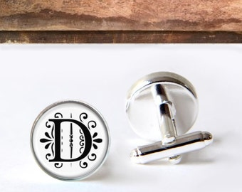 Personalized Monogram Cufflinks, Mens Custom Cufflinks, Perfect Gift For Dad