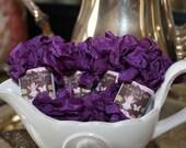 Shabby vintage wrinkle ribbon - Pansy Purple