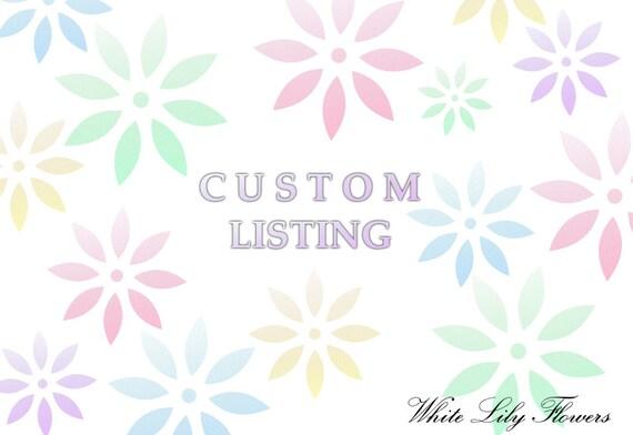 Custom Listing for Kralalien ONLY