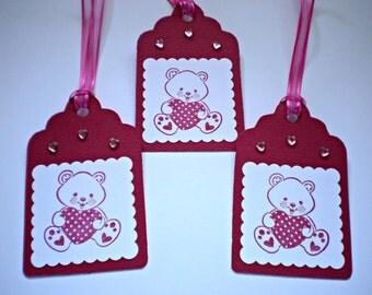 Valentine Gift Tags - Teddy