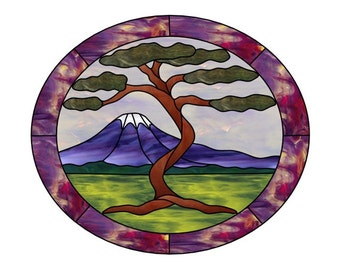 Mt Fuji Stained Glass PATTERN