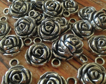 Rose charm - 5 pieces