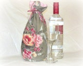 Clearance, Bottle Bag, Wine bottle gift bag, Gift Bag, liquor, alcohol, gift bag, re-usable gift bag, reversible