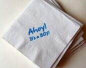 Ahoy It's a BOY beverage napkins / Baby Shower / Set of 50