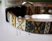 Sand Washed Mustard Brown Native American Dog Collar