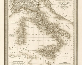 1825 Map of Italy
