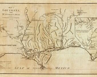 1788 Map of Louisiana