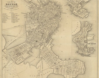 1851 Map of Boston
