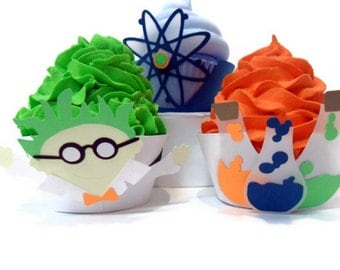 Mad Science Cupcake Wrappers - set of 12