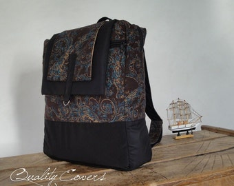 Classic Backpack (2 straps) - Customizable for Colors and/or Size - laptop COMPARTMENT - PADDED - Water resistant lining
