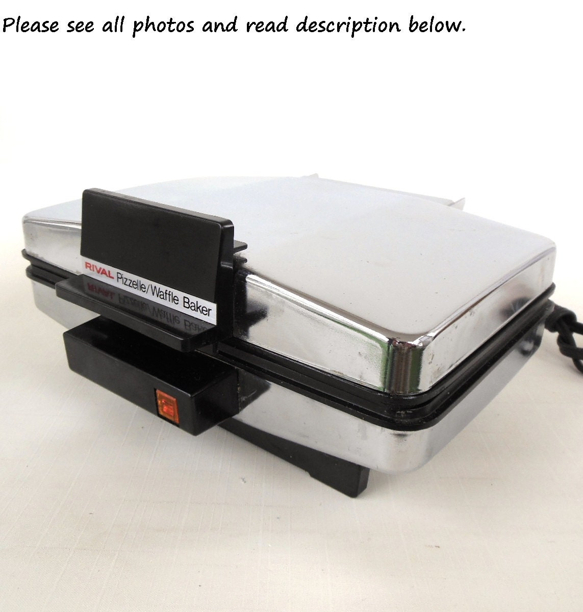 Rival Waffle Iron Pizzelle Maker Used 9705-1