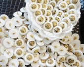 Buttons White Gold Shank -25 pieces  Lot
