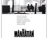 Manhattan - Woody Allen - Classic Movie Comedy Poster Print  13x19 - Home Theater decor - Diane Keaton