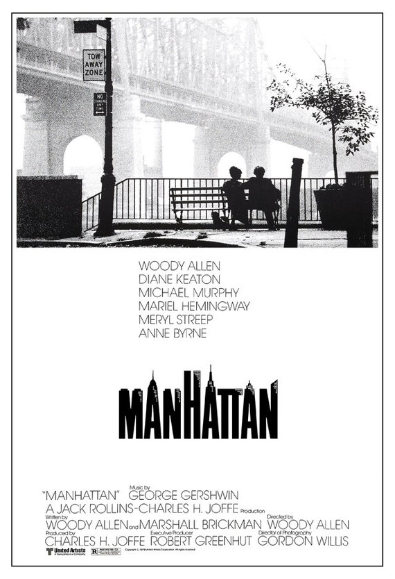 Manhattan Woody Allen Movie Classic Movie Comedy Poster
