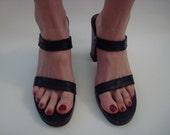 Robert Clergerie double strap black sandal