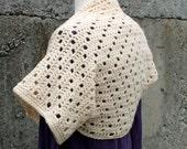 Crochet Pattern-- Step Up Shrug --Crochet Pattern