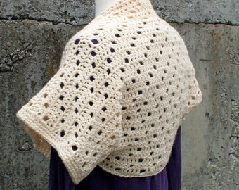 Crochet Pattern-- Step Up Shrug --Crochet Pattern