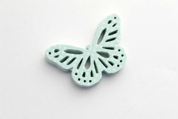 Pastel Light Mint Butterfly Die Cuts - Fresh Polka Dots
