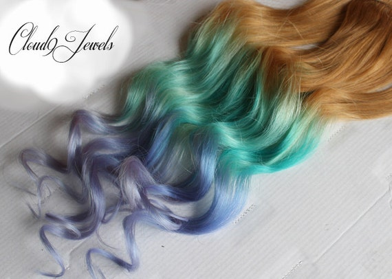 Pastel clip in hair extensions ombre hair mint purple like this item pmusecretfo Image collections