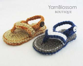 CROCHET PATTERN - Baby Flip Flops - (5 sizes included) PDF pattern crochet baby shoes baby sandals newborn baby booties summer sandals