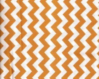 "85505 - Niagra Mills - Small chevron 3/8"" cotton fabric in Gold color- 1 yard"