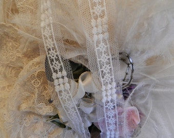 Petite White Lace Insertion Trim - Dolls-Sewing-Crazy Quilts-Baby- 2yds/2.80