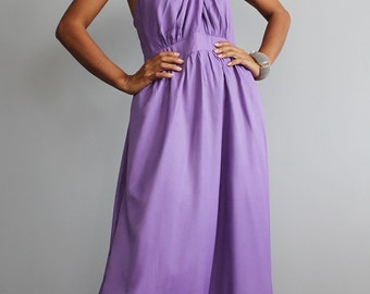Bridesmaid Dress -  Cross over dress with pleated skirt  : True Elegant Collection No.2