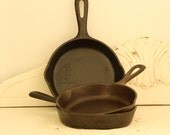 Iron Skillet - Wagner Ware - Vintage Cookware - Seasoned Kitchenware - Cabin Decor - Camp Gear