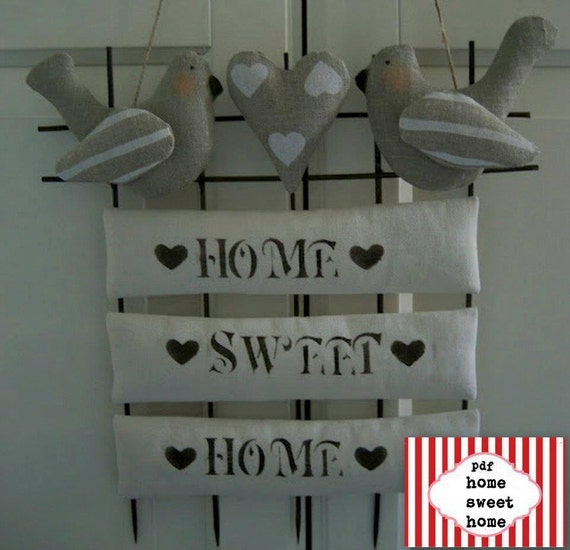 Items Similar To Pdf Home Sweet Home ,LOVELY PDF BIRD,home