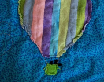 "Hot Air Balloon Mini Quilt Pattern, ""Up, Up, and Away"""