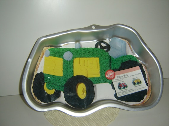 Tractor Cake Pan : Wilton tractor cake pan with original color insert and