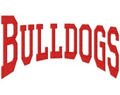 Bulldogs - College - Arched - Machine Embroidery Design -  12 Sizes