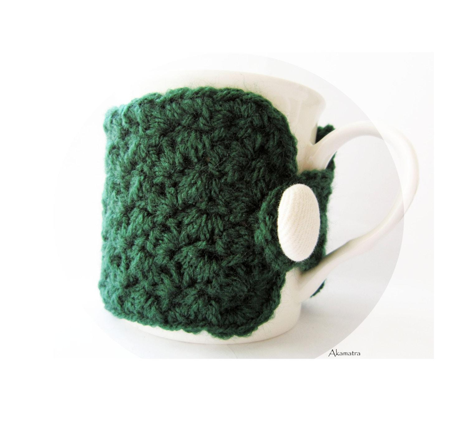 Crochet mug cozy green cup cozy coffee cup cozy hostess