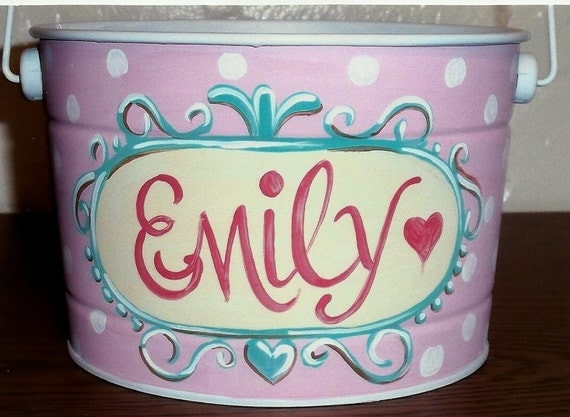 Hand Painted Easter Pails