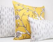 Charcoal Grey and Cream Pillow Cover, Cream, Lumbar, Decorative Pillow Cover, Throw Pillow