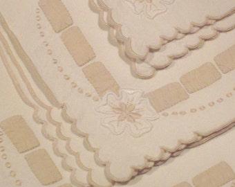 Vintage Linen Napkins Circa 1950's